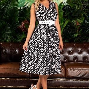 rochie eleganta midi cu imprimeu 2 2