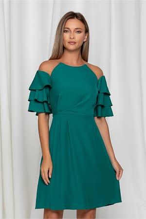 rochie moze verde cu volane pe maneci 942594 749097 4